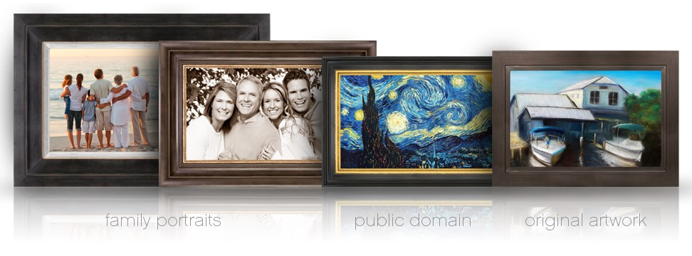 examples of custom tv covers, hide flat screen tv behind art